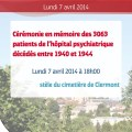 Commémoration en mémoire des 3063 patients de l'hôpital psychiatrique de Clermont décédés entre 1940 et 1944 - Clermont Oise