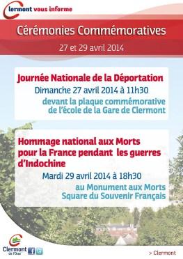 Cérémonie officielle - Journée Nationale de la Déportation - Clermont Oise
