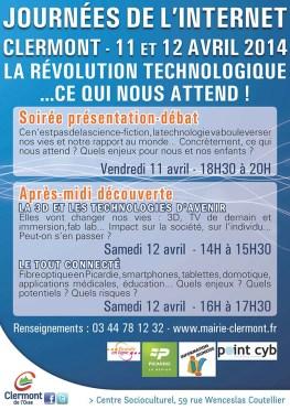 Journées de l'Internet, les vendredi 11 et samedi 12 avril 2014 - Clermont Oise