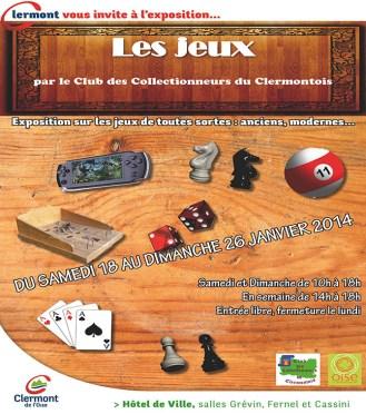 Exposition sur les jeux de toutes sortes, du 18 au 26 janvier 2014 - Clermont Oise