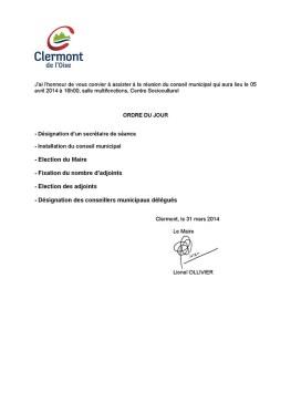 Conseil Municipal du 5 avril 2014 - Clermont Oise