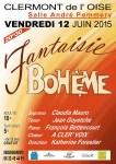"""""""Fantaisie Bohème"""" par le chœ, ur A CLER'VOIX de l'Harmonie Municipale de Clermont, vendredi 12 juin 2015 - Clermont Oise"""