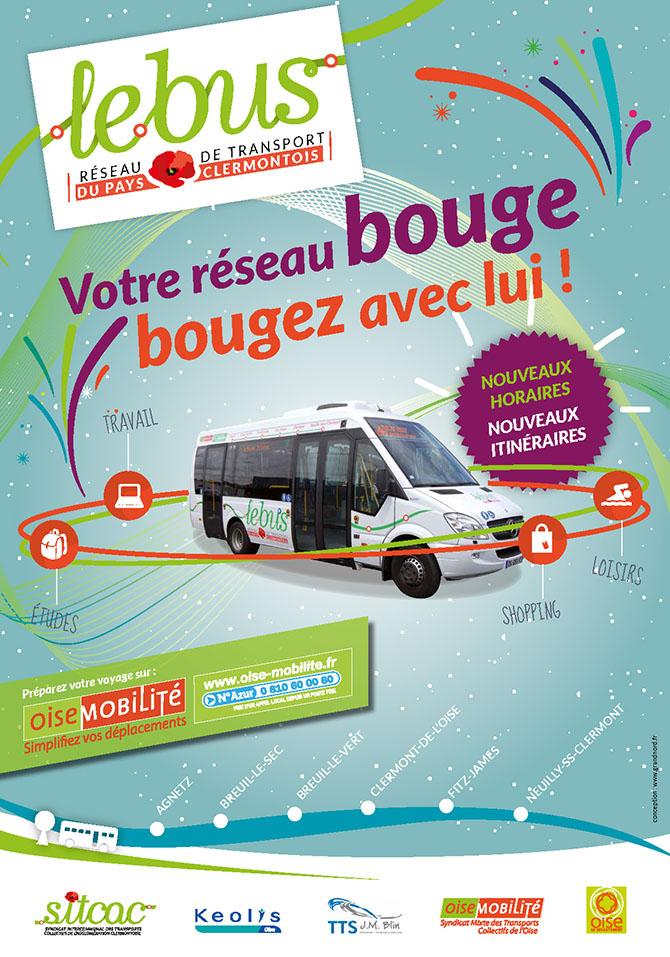 """Le réseau """"Le bus"""" évolue à partir du 17 août 2015 - Clermont Oise"""