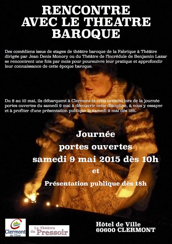 Stage de théâtre baroque - Clermont Oise