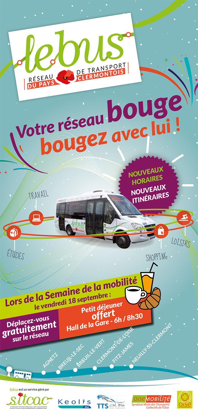 """""""Le Bus"""", déplacez-vous gratuitement sur le réseau le vendredi 18 septembre 2015 - Clermont Oise"""