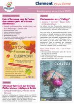 Clermont vous donne rendez-vous : octobre 2015 - Clermont Oise