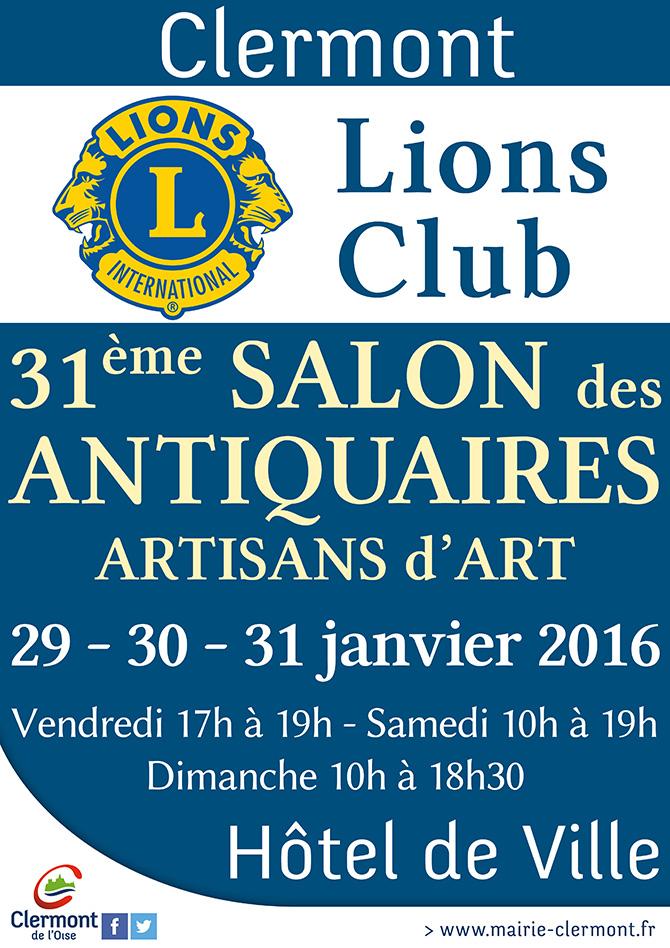 31ème salon des antiquaires artisans d'art - Lions Club, du vendredi 29 au dimanche 31 janvier 2016