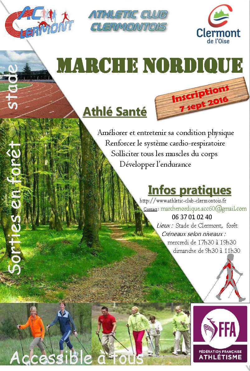 Marche Nordique par l'Athletic Club Clermontois, inscription septembre 2016
