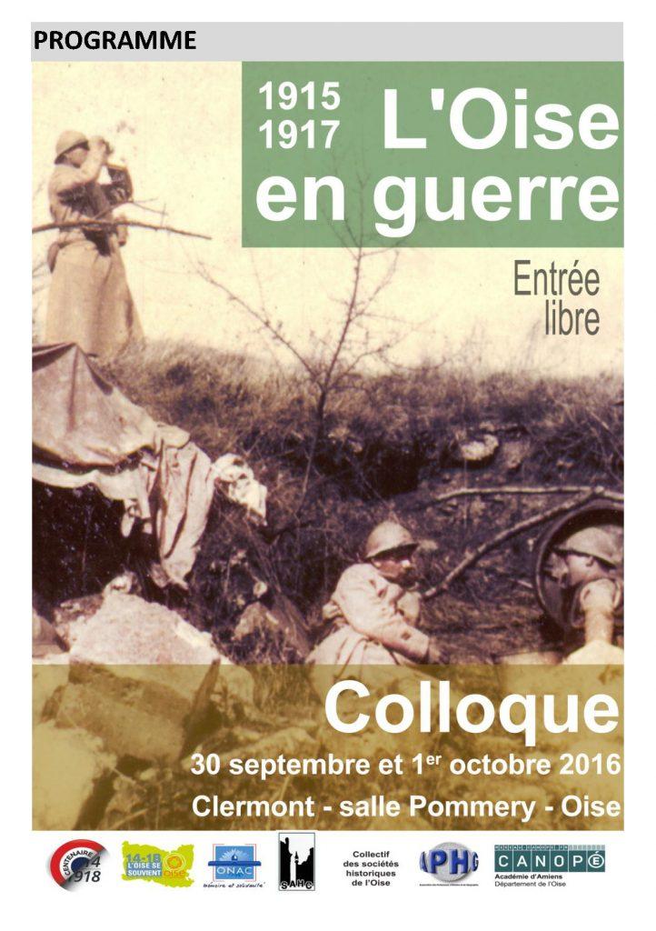 Colloque – 1915-1917 : l'Oise en guerre