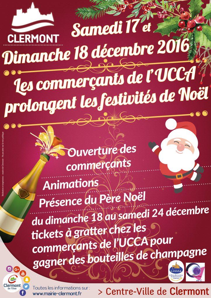 Les commerçants de l'UCCA prolongent les festivités de Noël 2016, samedi 17 et dimanche 18 décembre
