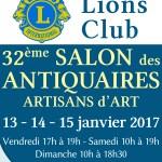 32ème salon des antiquaires artisans d'art – Lions Club, du vendredi 13 au dimanche 15 janvier 2017