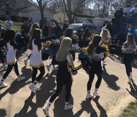 The Olmsted Falls community's parade for Emily Heine took place March 20 in the Redwood development neighborhood.