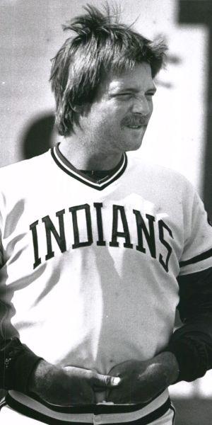 Indians pitcher Len Barker in 1982