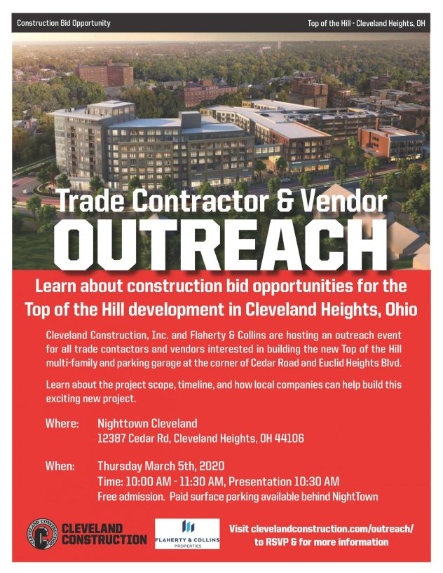 Trade Contractor & Vendor Outreach @ Nighttown Cleveland