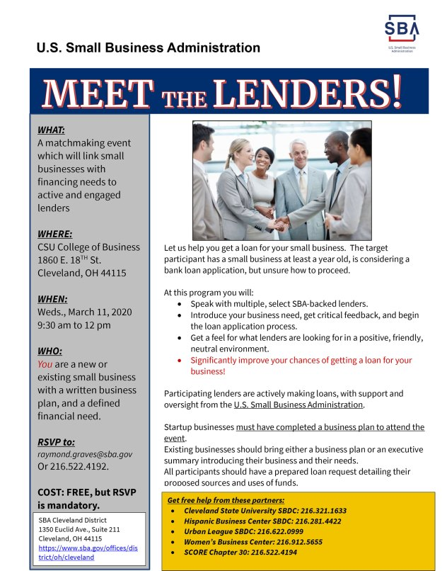 Meet the Lenders @ CSU College of Business