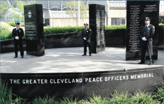 Image result for PEACE OFFICERS MEMORIAL CLEVELAND