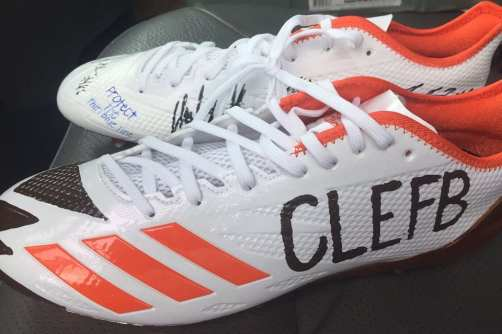 Cleveland Browns signed cleats
