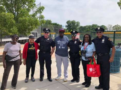 Community Policing got out of the office and spent some time with the seniors at the League Park Senior Walk!! 30 minutes of exercise a day makes Cleveland a healthier city!!