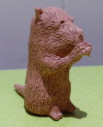 Clay animal made by Dione Gardner-Stephen