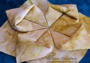Fabric origami flower block