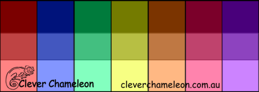 Tints, tones and shades - colour value