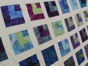Repeated blocks on a quilt