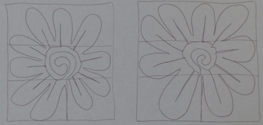 First attempts at daisy motif