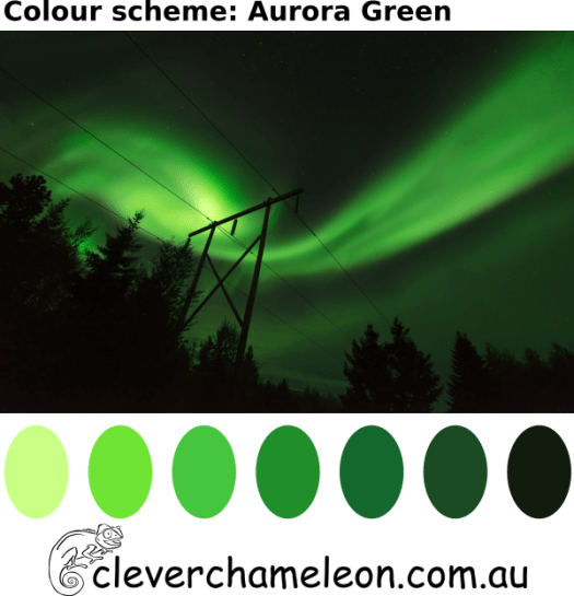 Aurora Green color palette by Clever Chameleon
