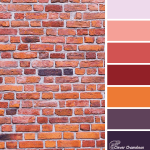 Sunset Wall color scheme from Clever Chameleon
