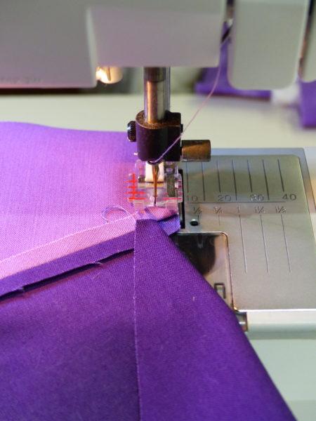Sewing tumbling blocks step three