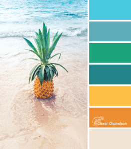 Digging for Pineapples color scheme by Clever Chameleon
