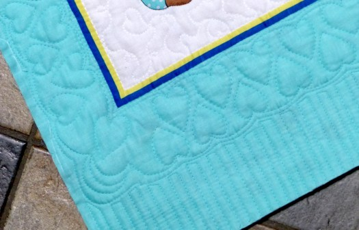 hearts border free-motion quilting motif