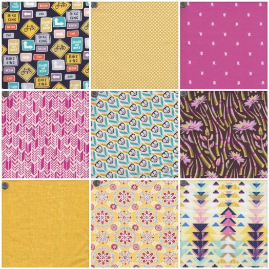 Ice-cream Tones colour scheme fabric selection by Clever Chameleon