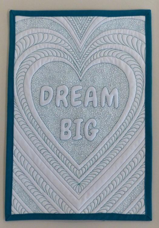 Dream Big mini quilt