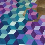 Jewel Tone Diamonds quilt progress