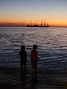 Sunset and silhouettes. Vanuatu