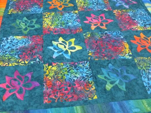 Lotus batik quilt