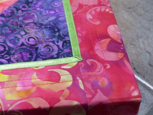 Kaleidoscope mini quilt detail
