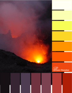 Mt Yasur colour scheme from Clever Chaneleon