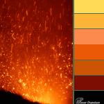 Mt Yasur Explosion color scheme from Clever Chameleon