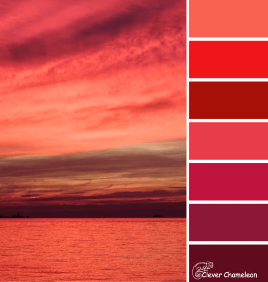 January is Red color scheme from Clever Chameleon