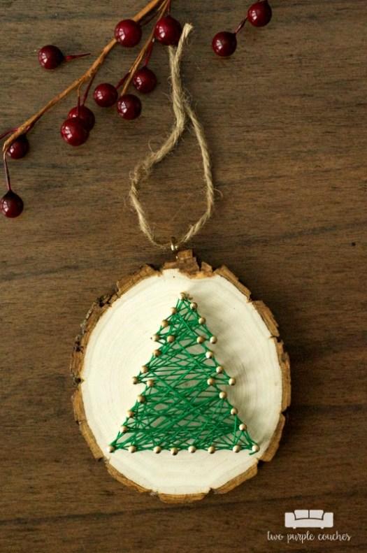 String Art Christmas Ornament