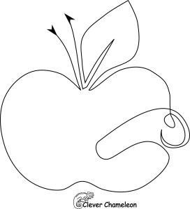 Apple and worm FMQ motif from Clever Chameleon