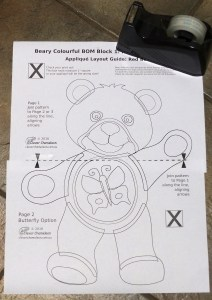 Red Bear Appliqué assembly guide
