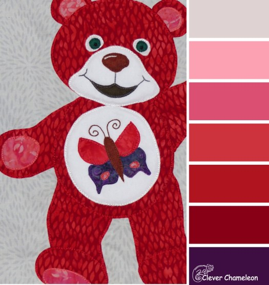 Beary Red Colour scheme from Clever Chameleon