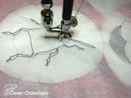 stitching on greaseproof paper