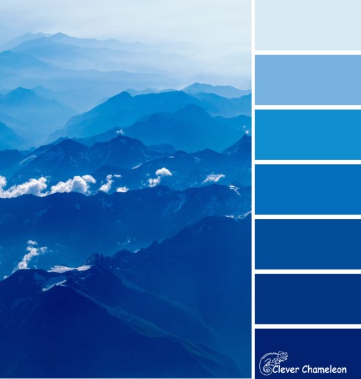 February is Blue color scheme from Clever Chameleon