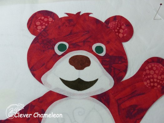appliqué bear face