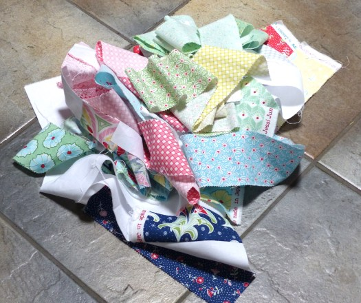 Regatta fabric scraps