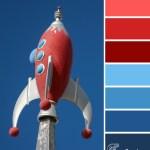 Red Rocket Blue color scheme from Clever Chameleon